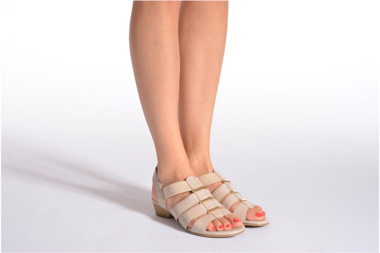 Sandales et nu-pieds Caprice Carla Noir vue bas / vue portée sac