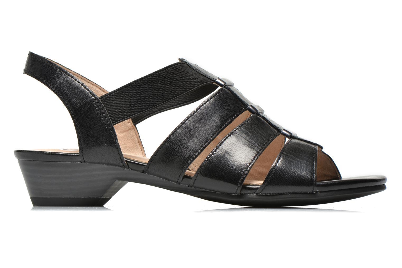 Sandales et nu-pieds Caprice Carla Noir vue derrière