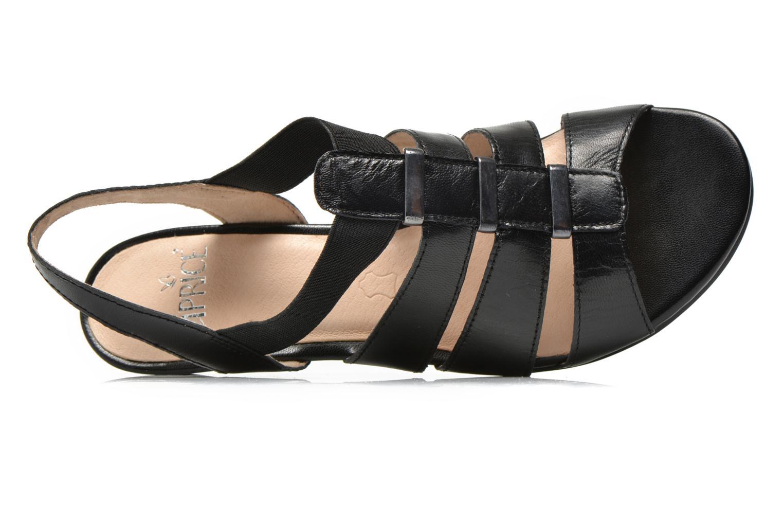 Sandales et nu-pieds Caprice Carla Noir vue gauche