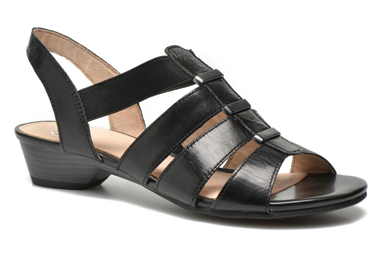 Sandales et nu-pieds Caprice Carla Noir vue détail/paire
