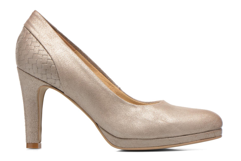Zapatos de tacón Myma Hewin Beige vistra trasera