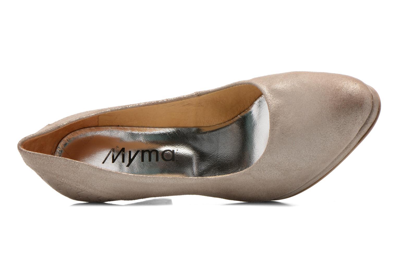 Zapatos de tacón Myma Hewin Beige vista lateral izquierda