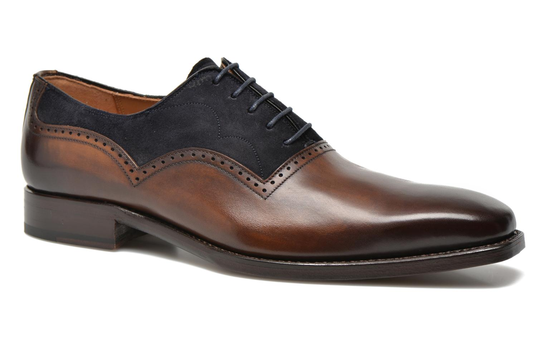 Snøresko Marvin&Co Luxe Welnaith Brun detaljeret billede af skoene