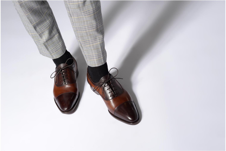 Chaussures à lacets Marvin&Co Luxe Welson - Cousu Blake Marron vue bas / vue portée sac