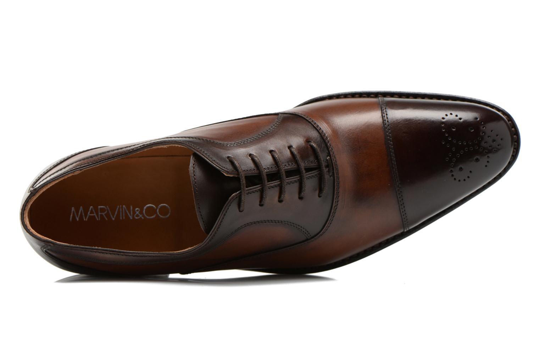 Chaussures à lacets Marvin&Co Luxe Welson Marron vue gauche