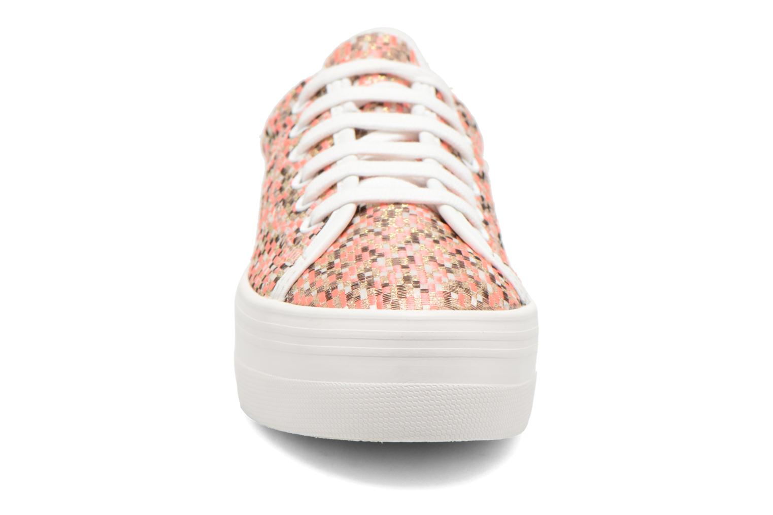 Baskets No Name Plato Sneaker Square Rose vue portées chaussures