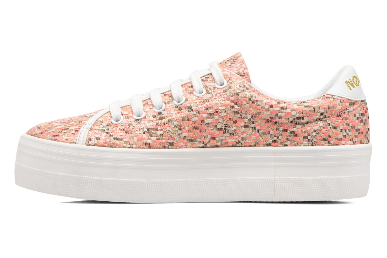 Pink fox White No Name Plato Sneaker Square (Rose)
