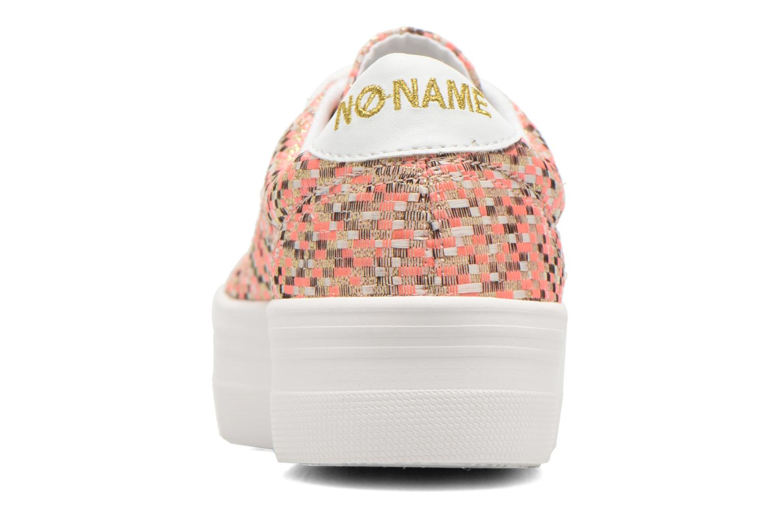 Trainers No Name Plato Sneaker Square Pink view from the right