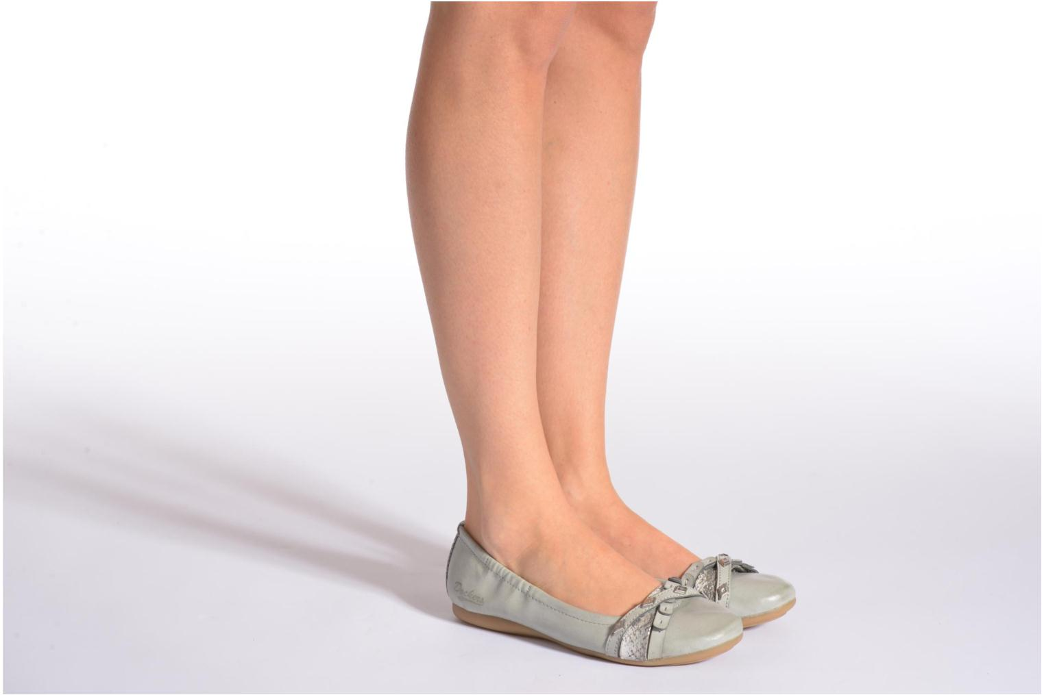 Ballet pumps Dockers Snake Grey view from underneath / model view