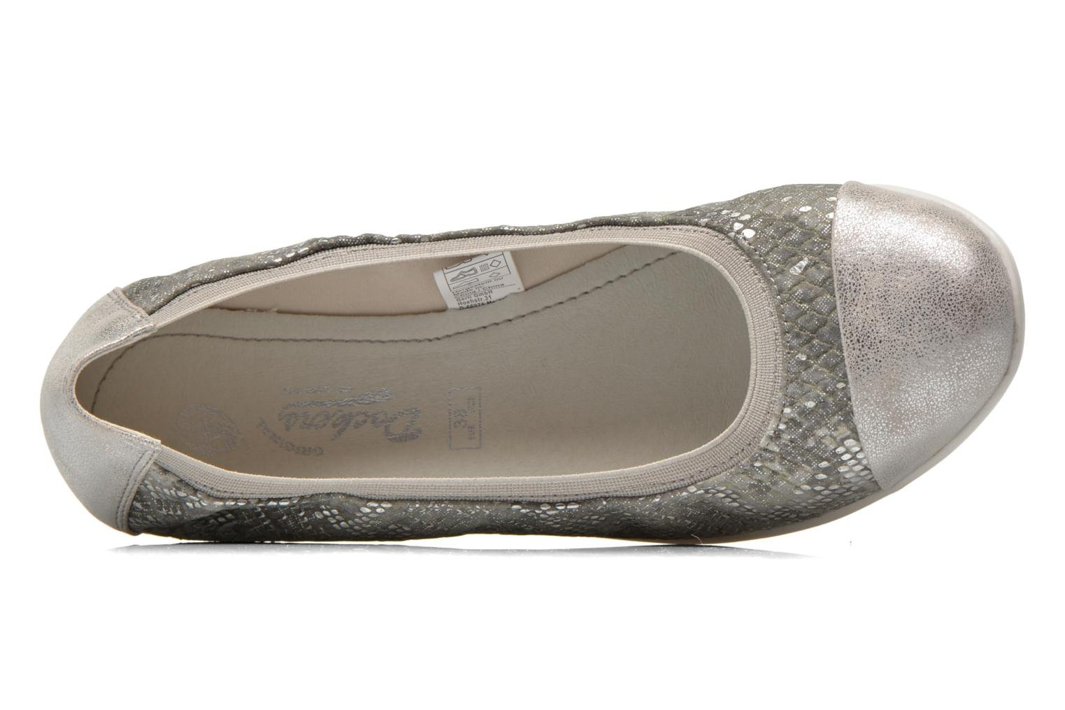 Ballet pumps Dockers Snake Grey view from the left