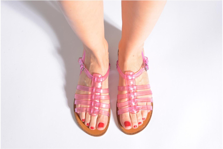 Sandalen Méduse Bora silber ansicht von unten / tasche getragen