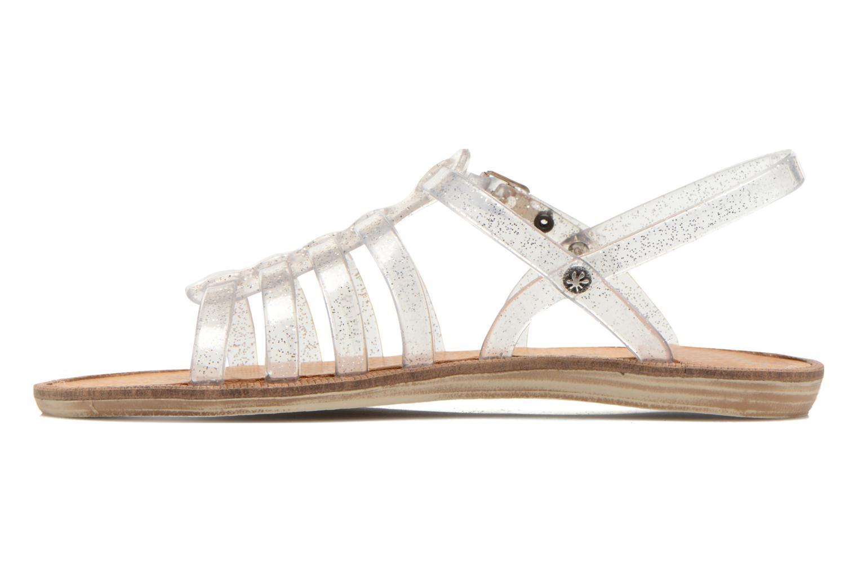 Sandales et nu-pieds Méduse Bora Argent vue face