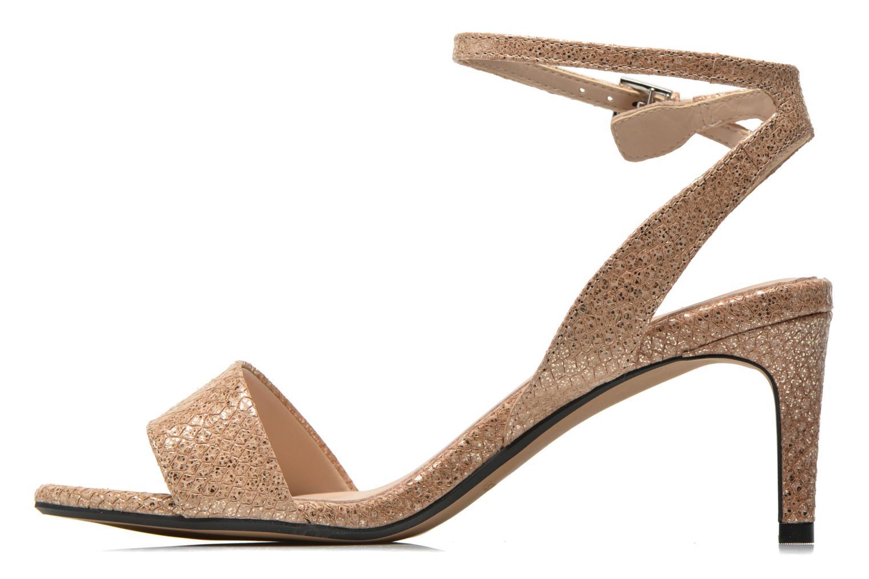 Sandales et nu-pieds Clarks Amali Jewel Or et bronze vue face