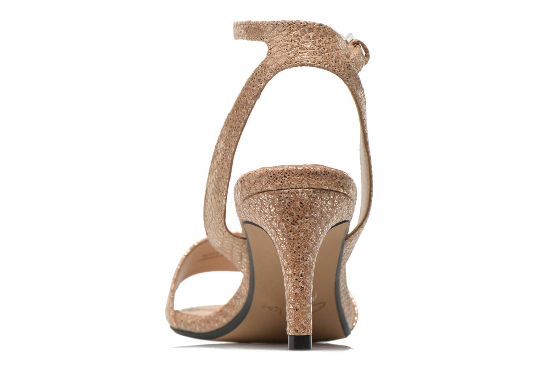 Sandales et nu-pieds Clarks Amali Jewel Or et bronze vue droite