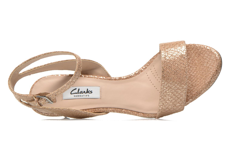 Sandales et nu-pieds Clarks Amali Jewel Or et bronze vue gauche