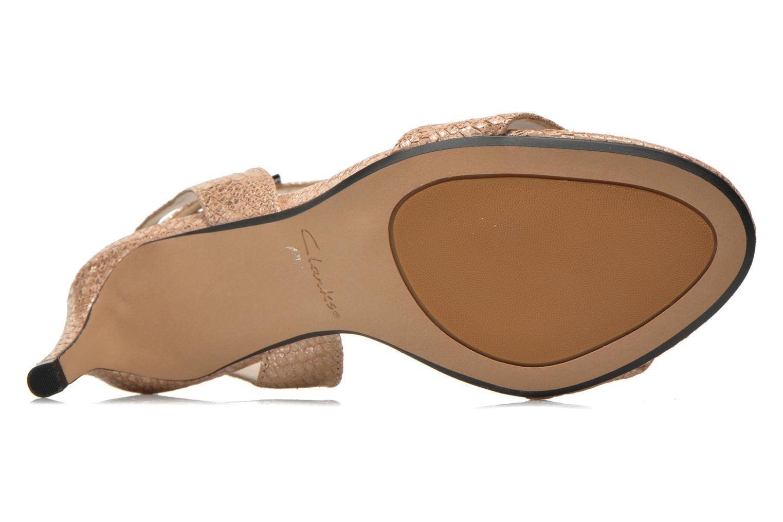 Sandales et nu-pieds Clarks Amali Jewel Or et bronze vue haut