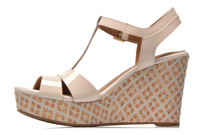 Sandales et nu-pieds Clarks Amelia Roma Rose vue face