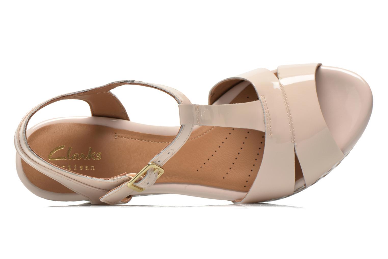 Sandales et nu-pieds Clarks Amelia Roma Rose vue gauche