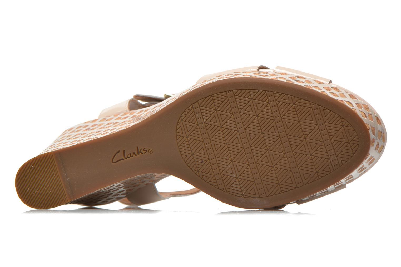 Sandales et nu-pieds Clarks Amelia Roma Rose vue haut
