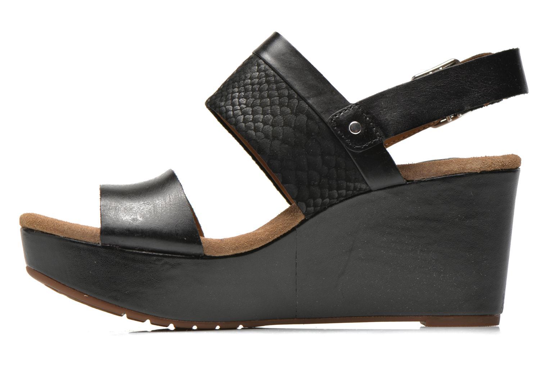 Sandali e scarpe aperte Clarks Caslynn Kat Nero immagine frontale