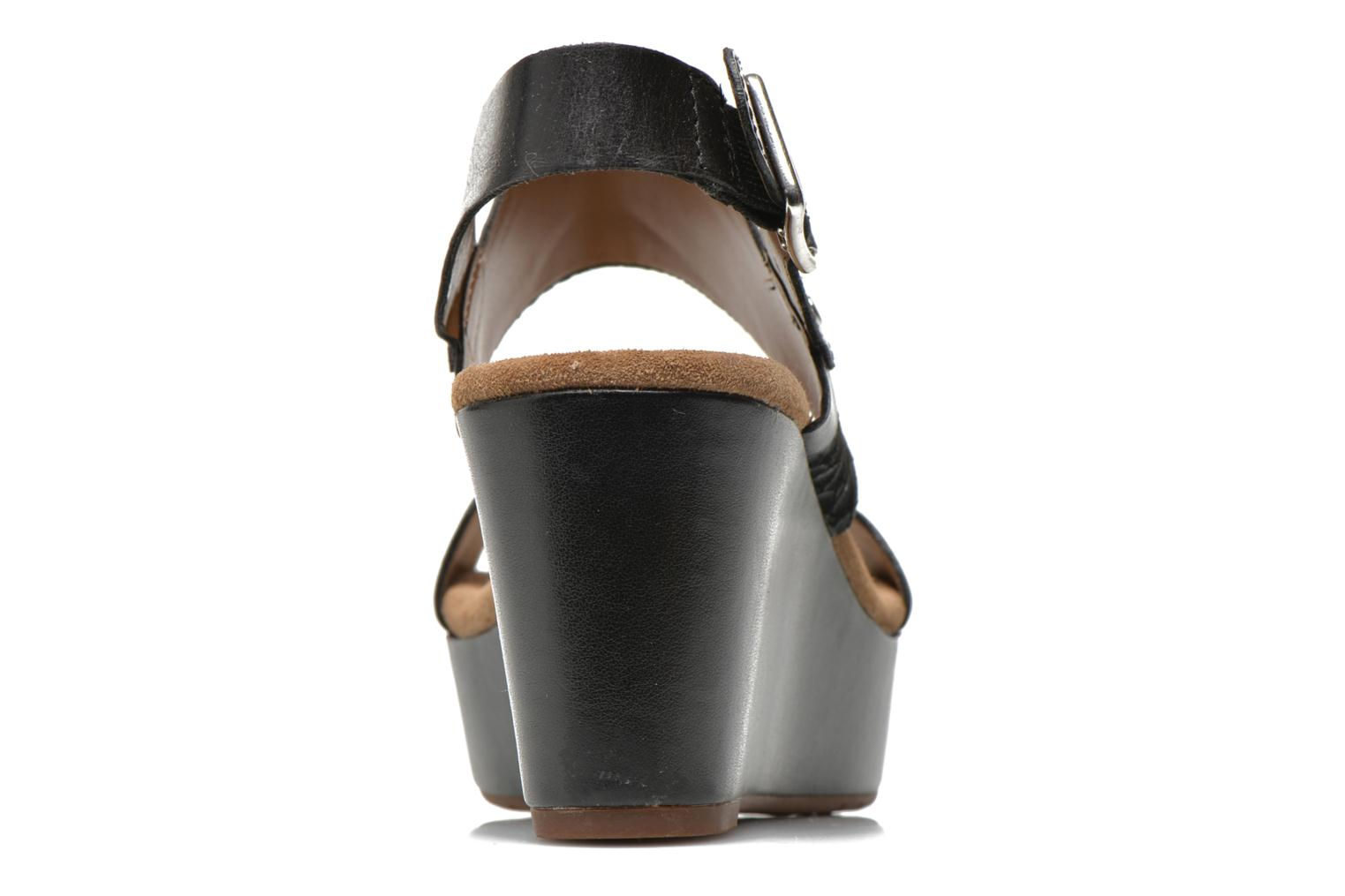 Sandals Clarks Caslynn Kat Black view from the right