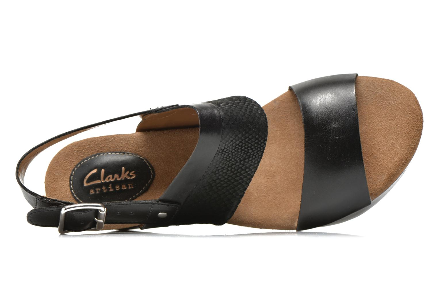 Sandals Clarks Caslynn Kat Black view from the left