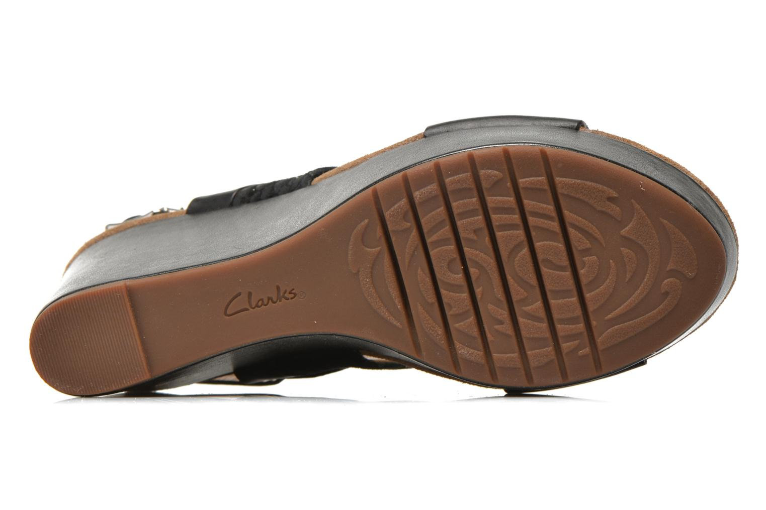 Sandals Clarks Caslynn Kat Black view from above