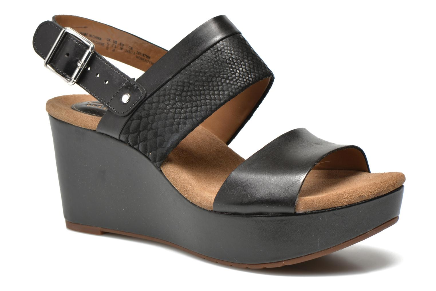 Sandals Clarks Caslynn Kat Black detailed view/ Pair view