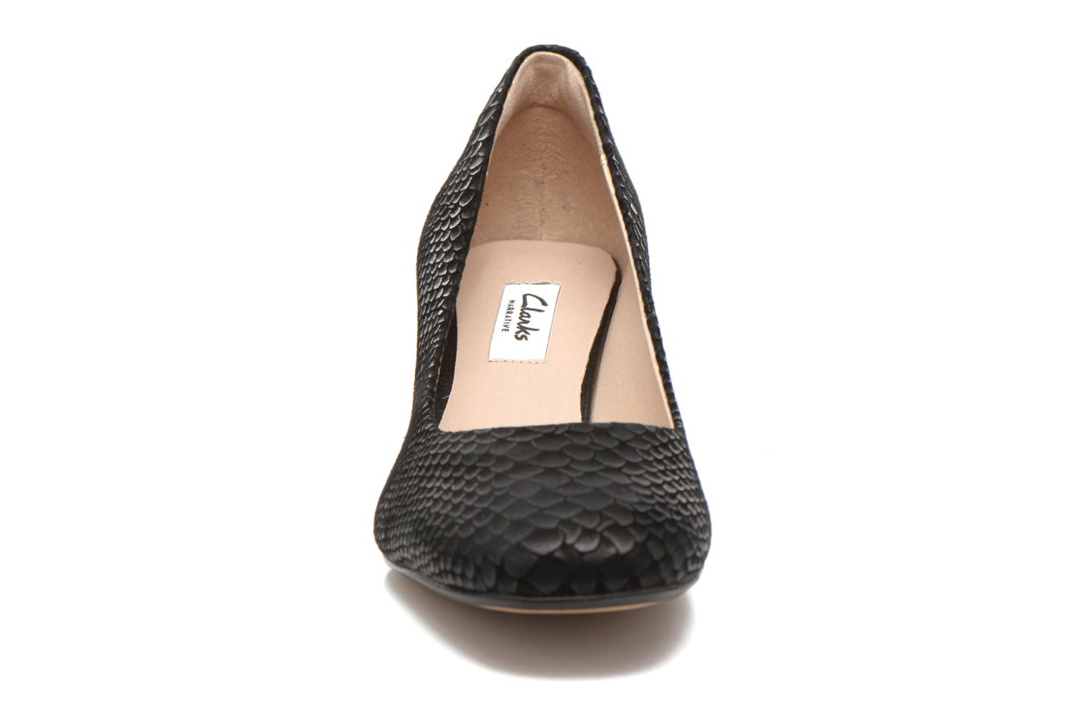 High heels Clarks Chinaberry Gem Black model view