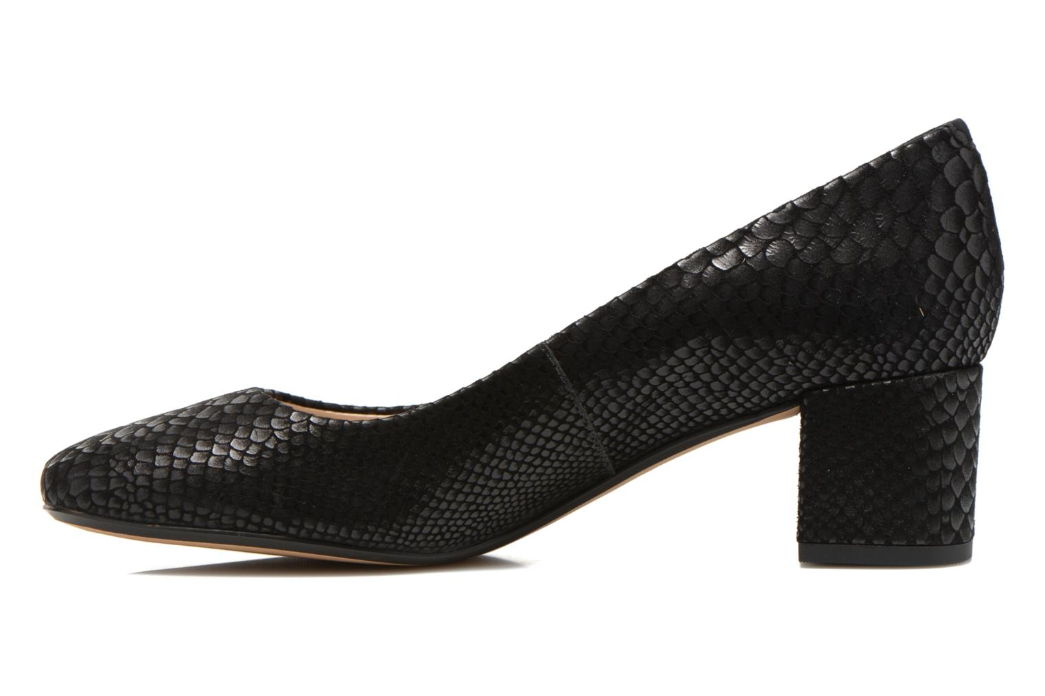 High heels Clarks Chinaberry Gem Black front view