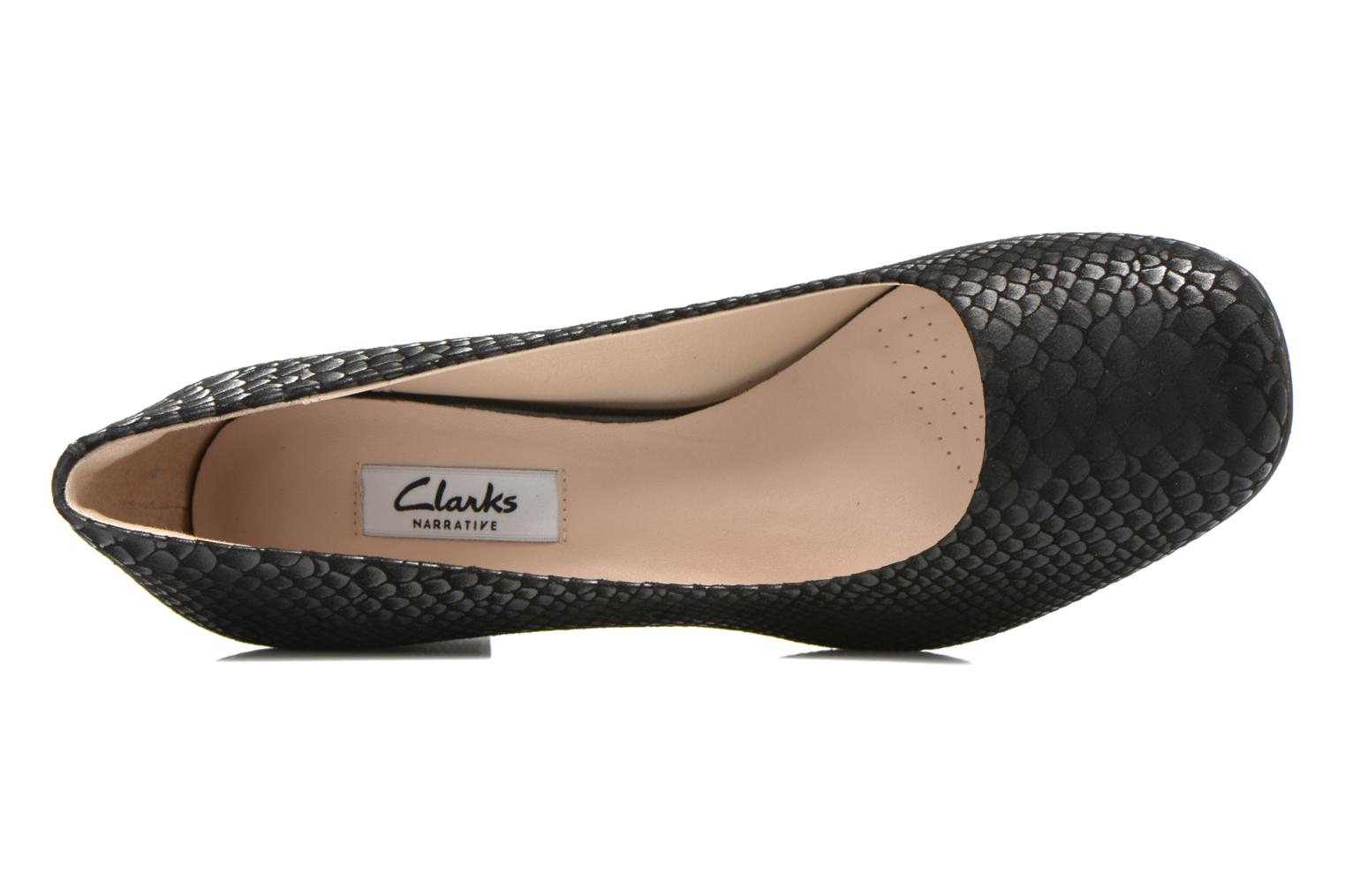 High heels Clarks Chinaberry Gem Black view from the left