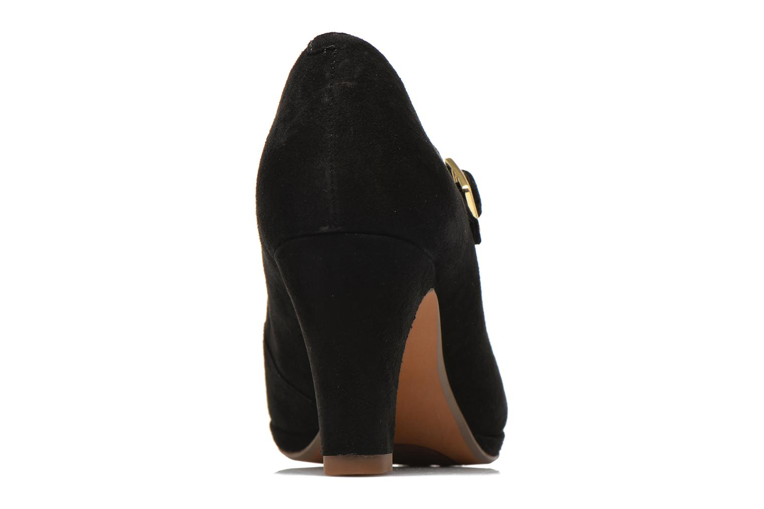 High heels Clarks Chorus Music Black view from the right