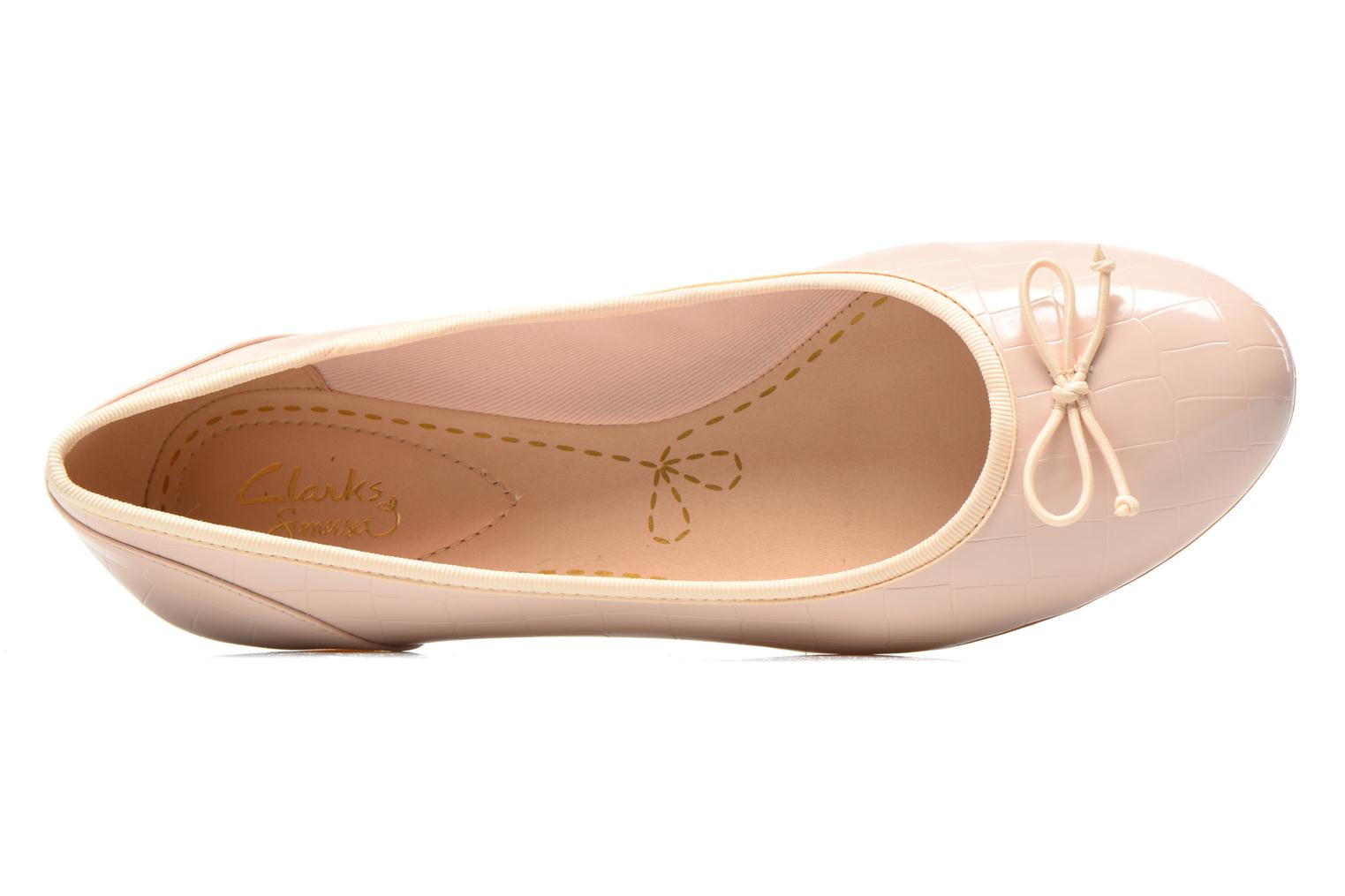 Ballerinas Clarks Couture Bloom rosa ansicht von links