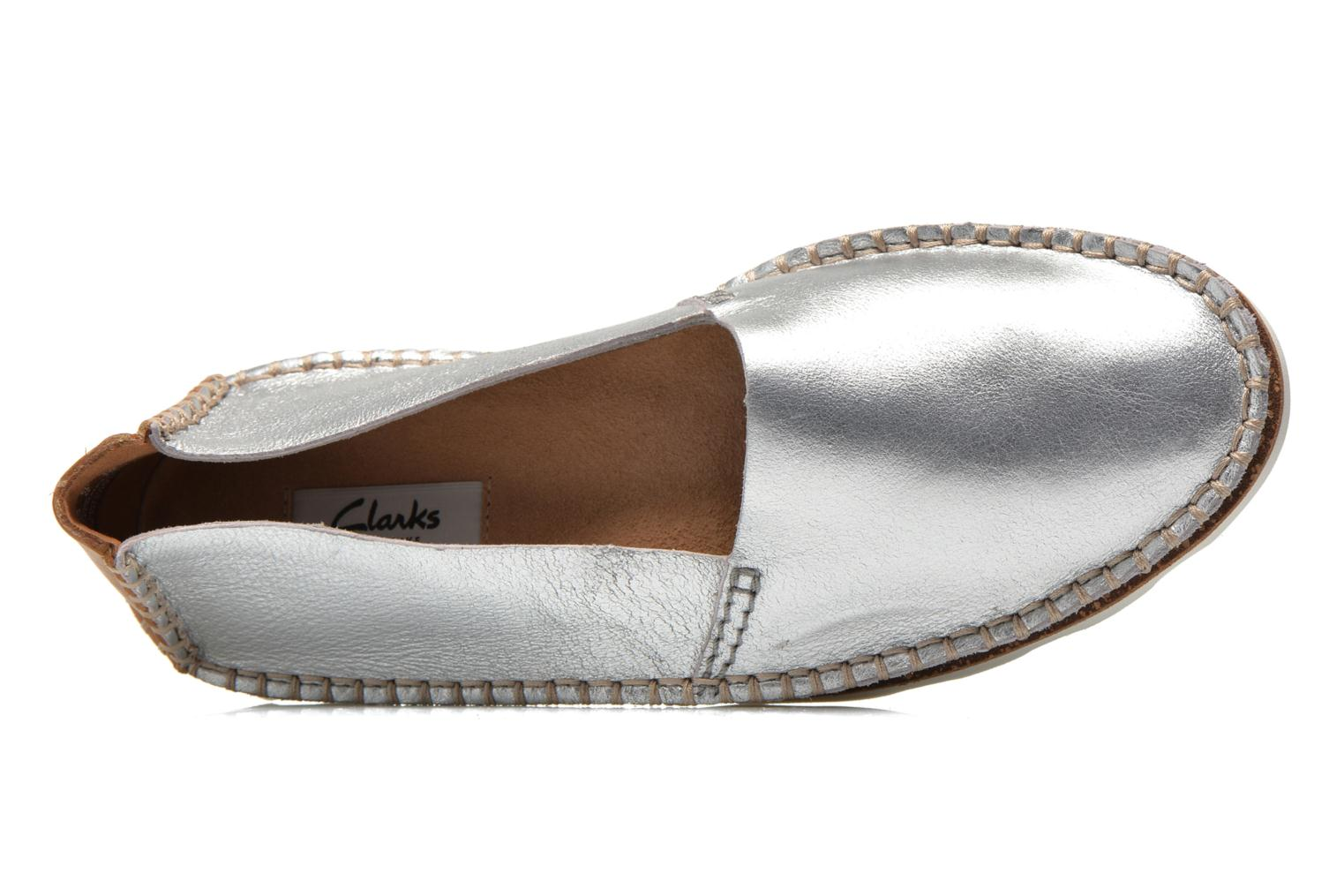 Espadrilles Clarks Damara Chic Silver view from the left