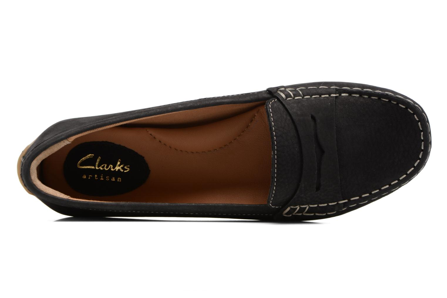 Loafers Clarks Doraville Nest Black view from the left
