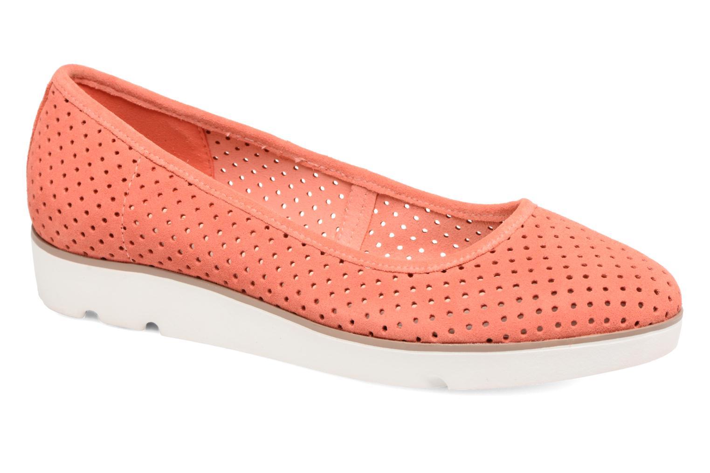 Ballerinaer Clarks Evie Buzz Rød detaljeret billede af skoene