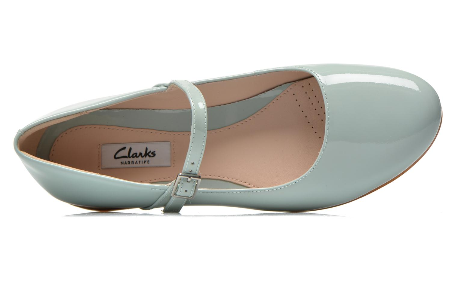Ballet pumps Clarks Festival Glory Green view from the left