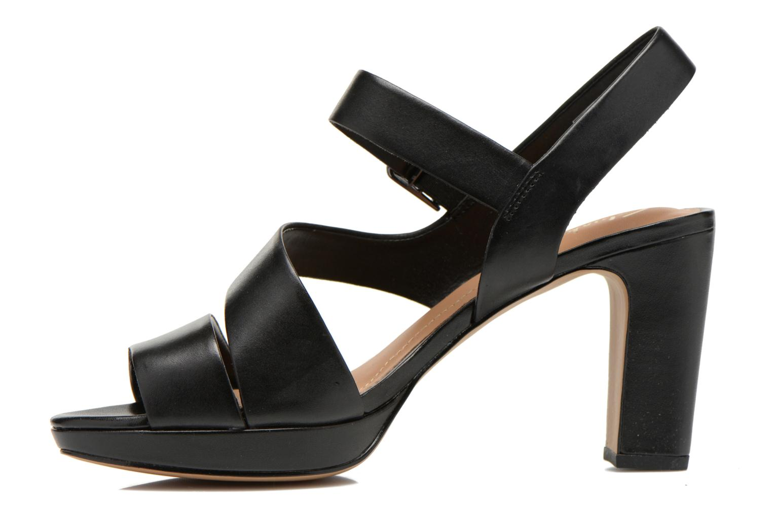 Sandals Clarks Jenness Soothe Black front view