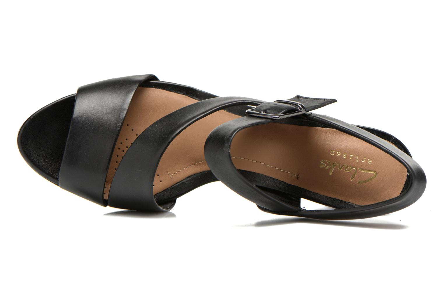 Sandals Clarks Jenness Soothe Black view from the left