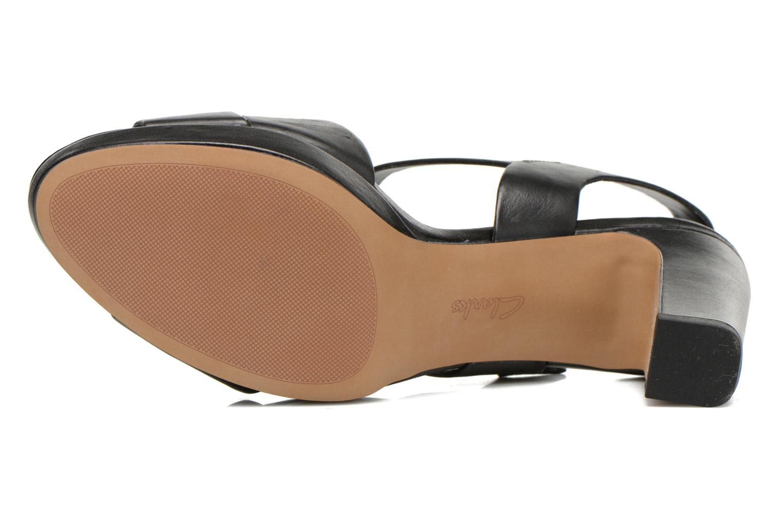 Sandals Clarks Jenness Soothe Black view from above