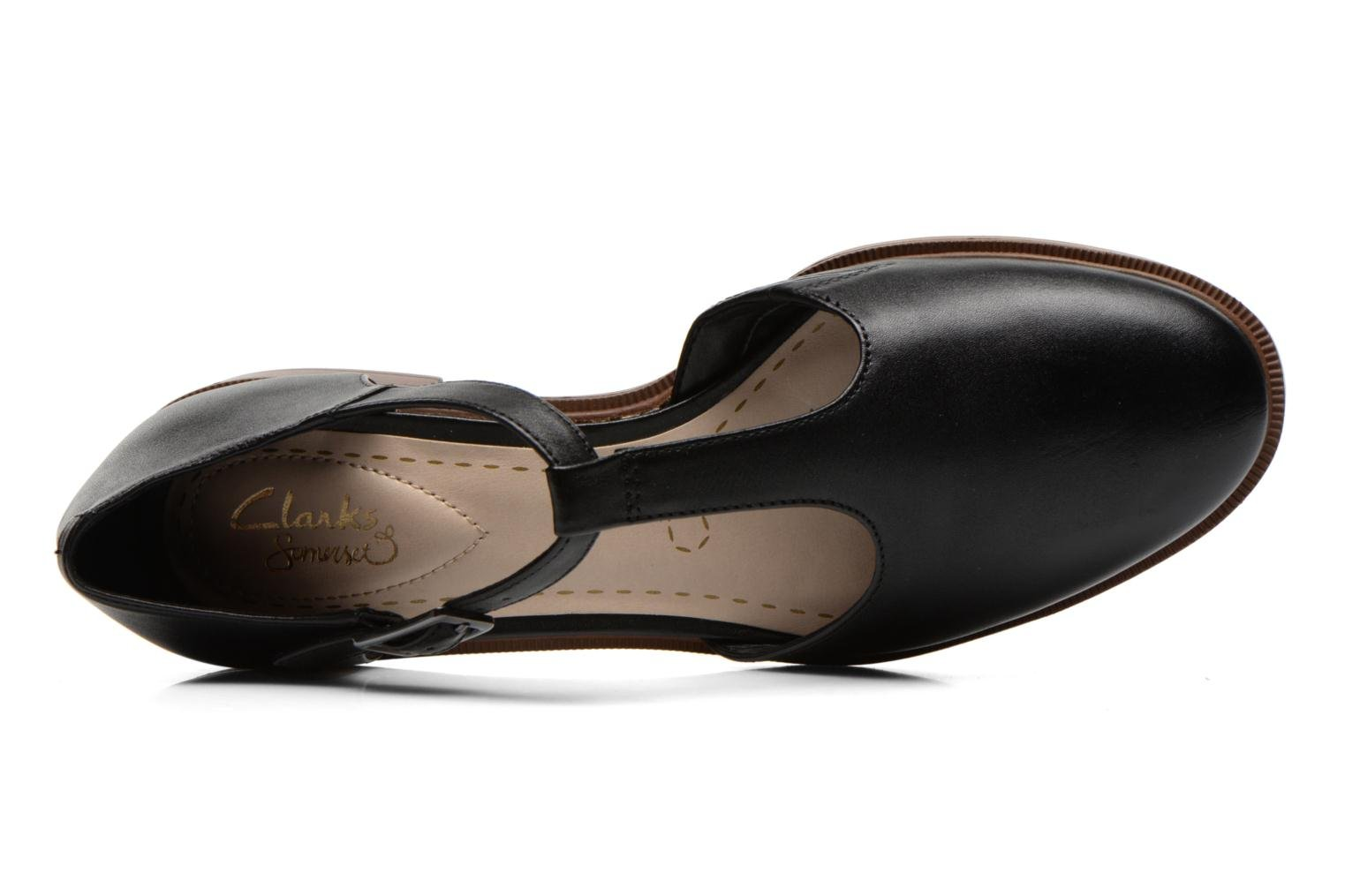 Ballet pumps Clarks Taylor Palm Black view from the left