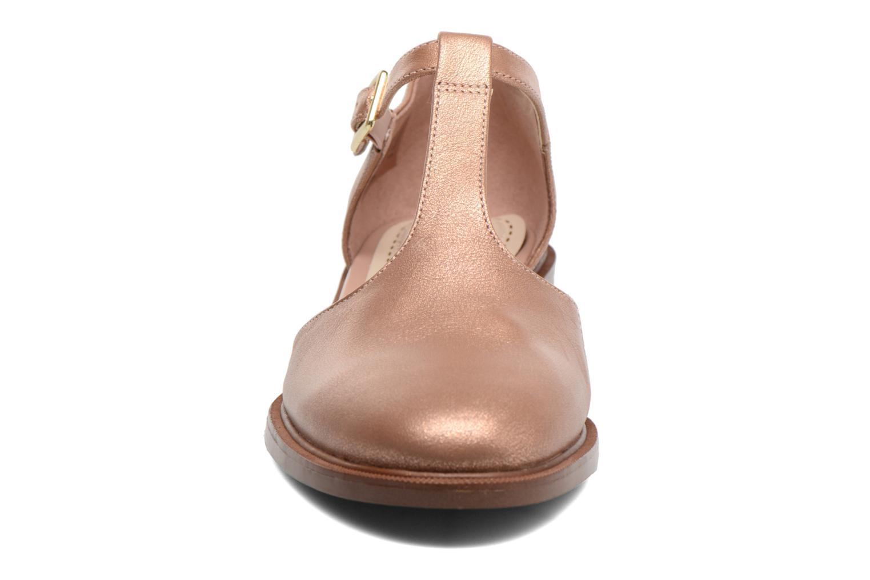 Ballerines Clarks Taylor Palm Rose vue portées chaussures