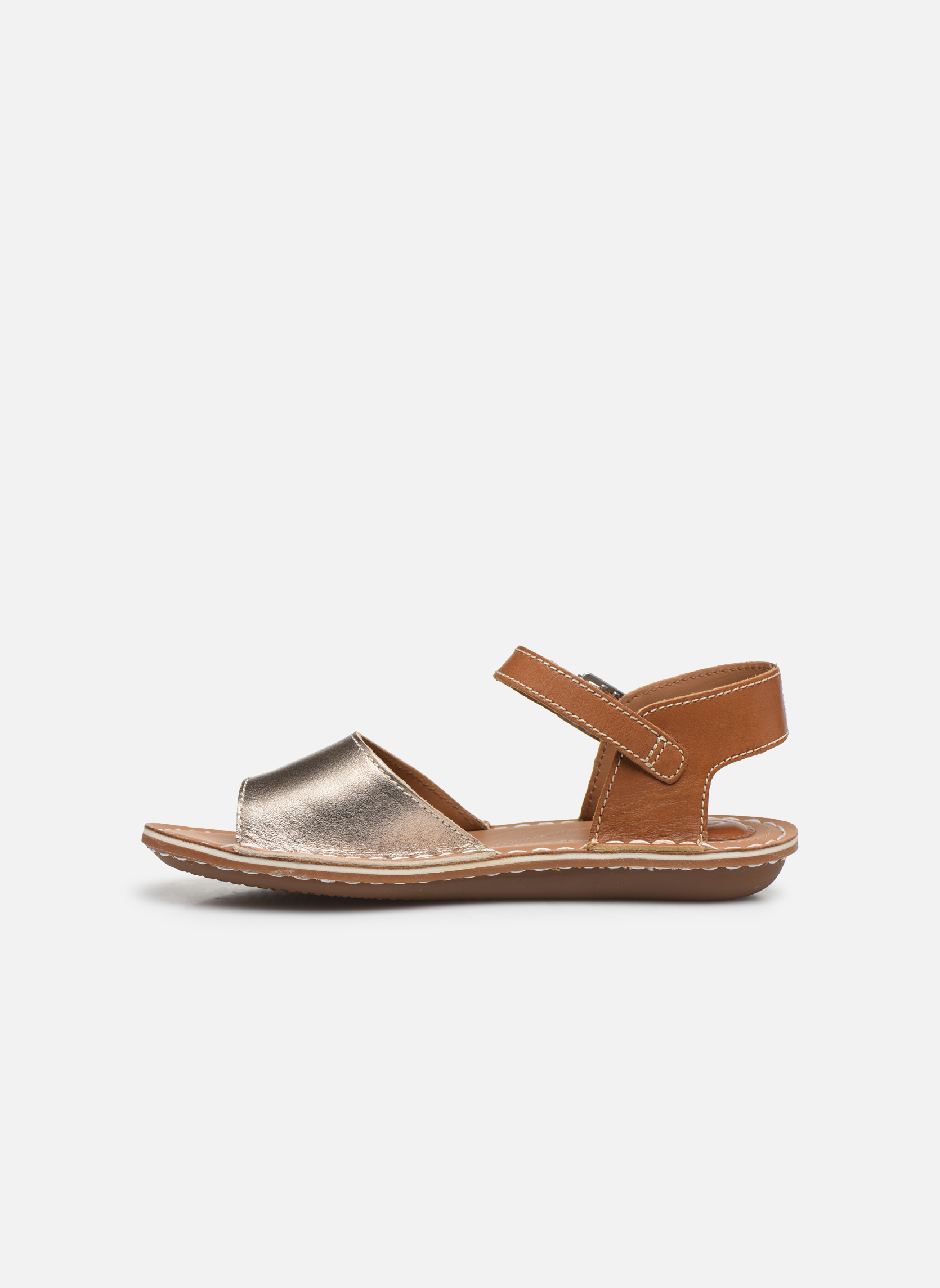 Sandales et nu-pieds Clarks Tustin Sinitta Or et bronze vue face
