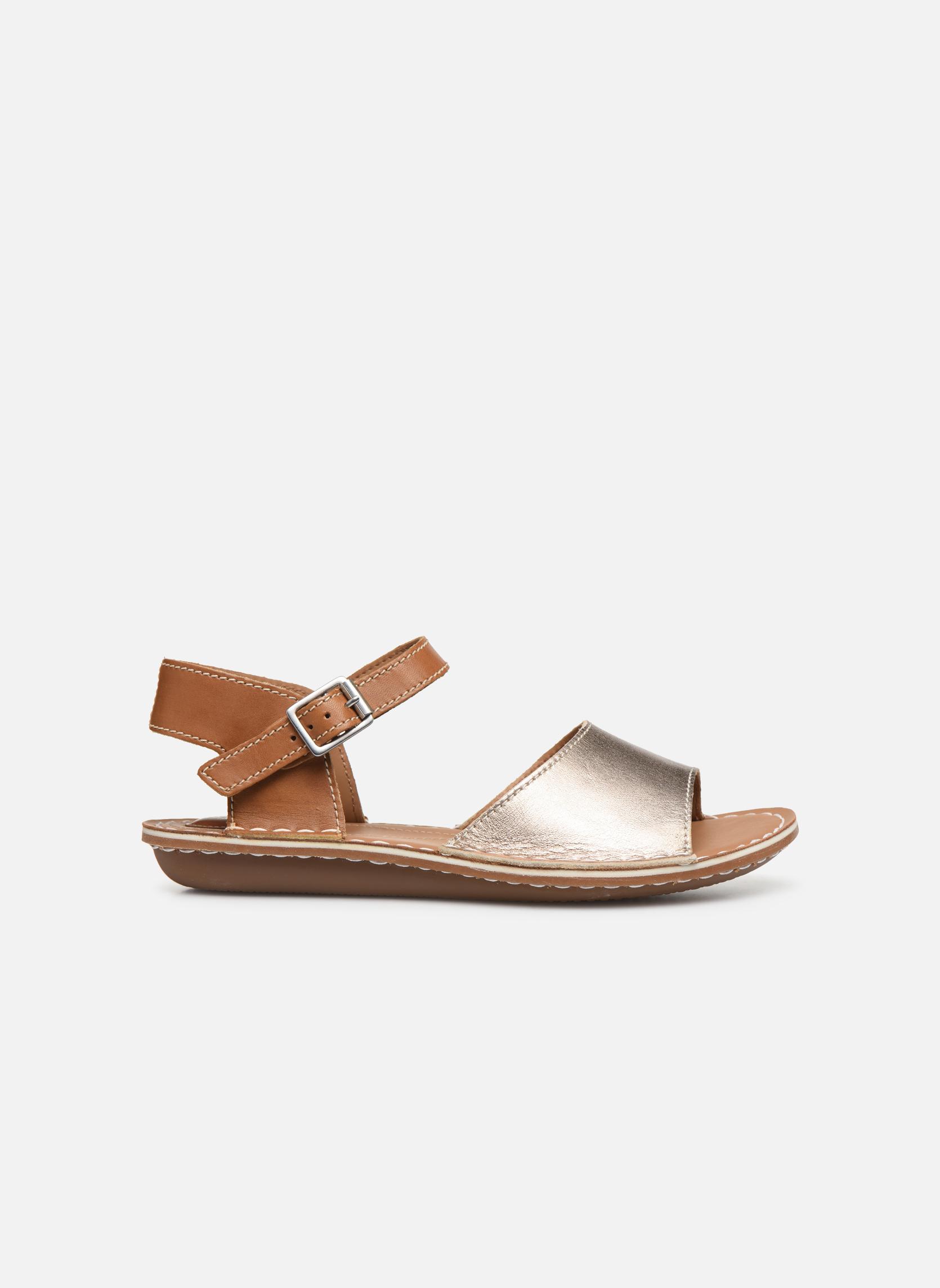 Sandales et nu-pieds Clarks Tustin Sinitta Or et bronze vue derrière