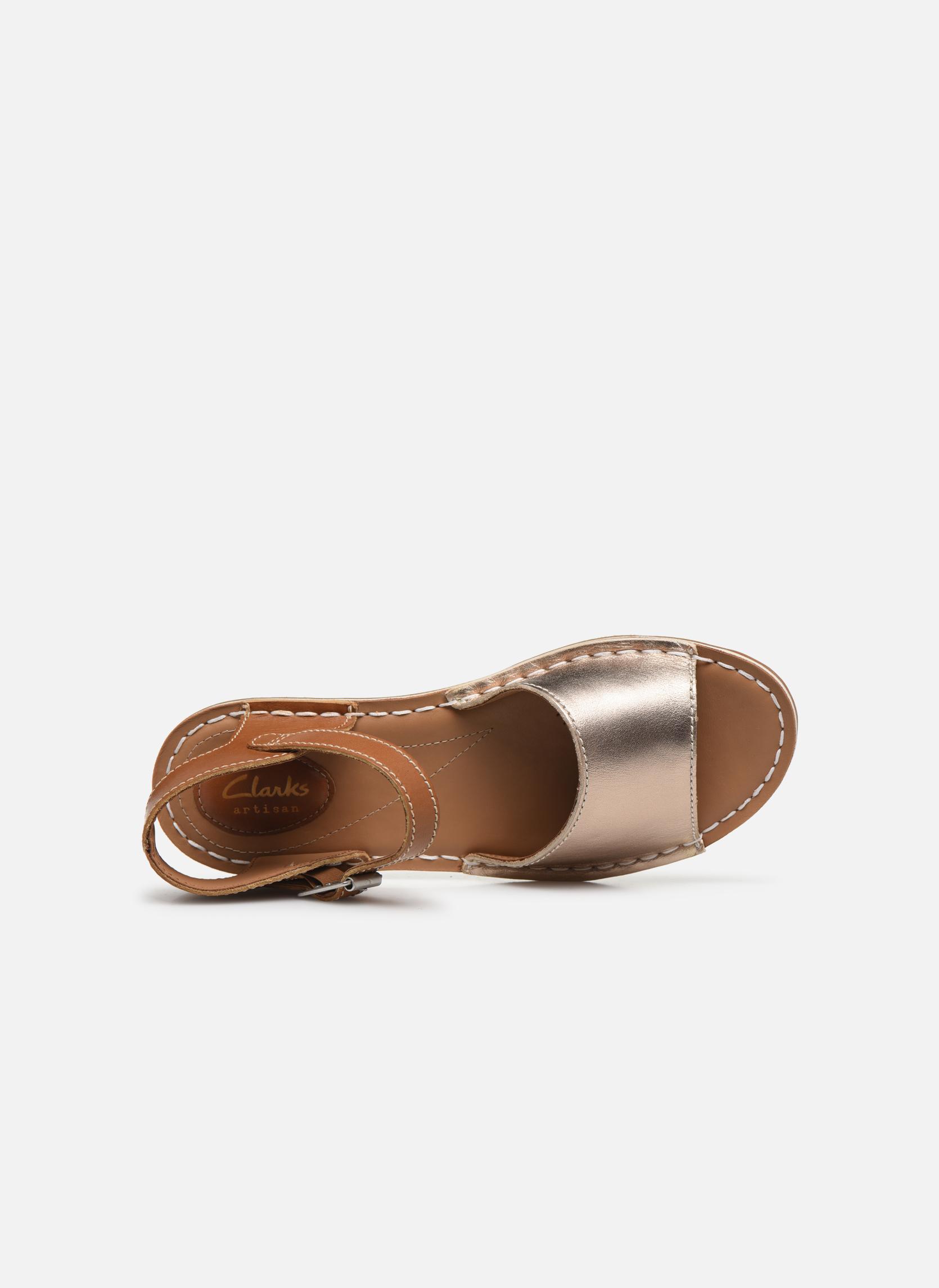 Sandales et nu-pieds Clarks Tustin Sinitta Or et bronze vue gauche