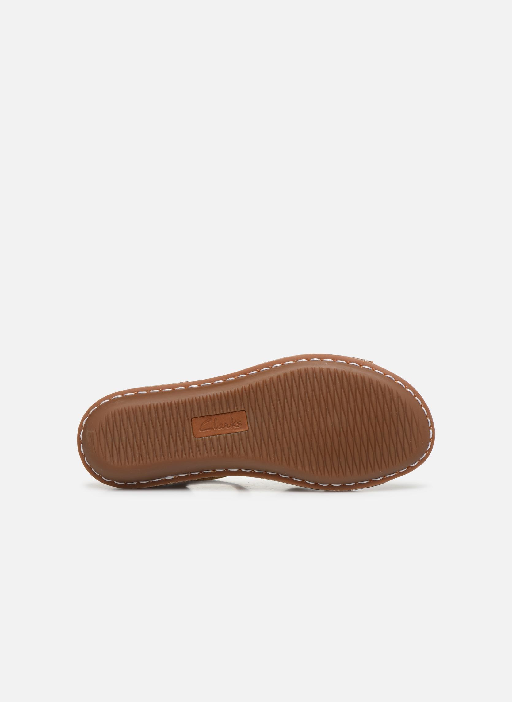 Sandales et nu-pieds Clarks Tustin Sinitta Or et bronze vue haut