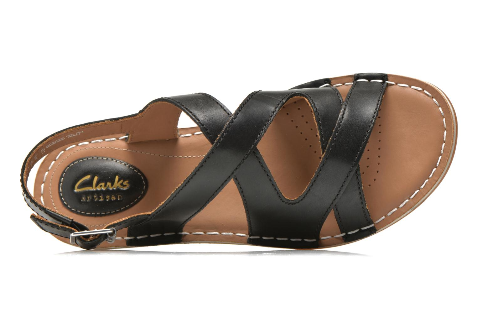 Sandals Clarks Tustin Spears Black view from the left