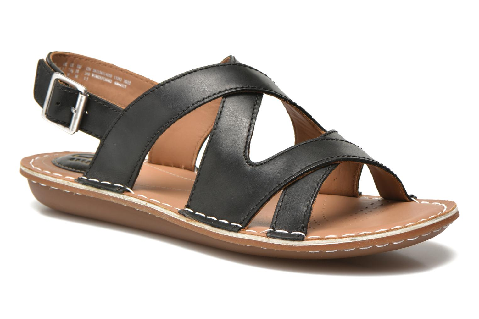 Sandals Clarks Tustin Spears Black detailed view/ Pair view
