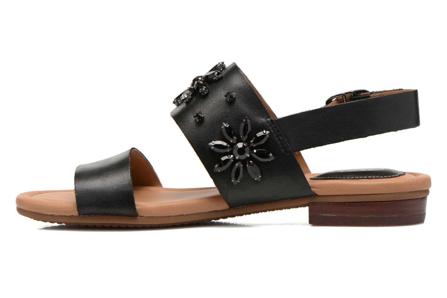 Sandals Clarks Viveca Melrose Black front view