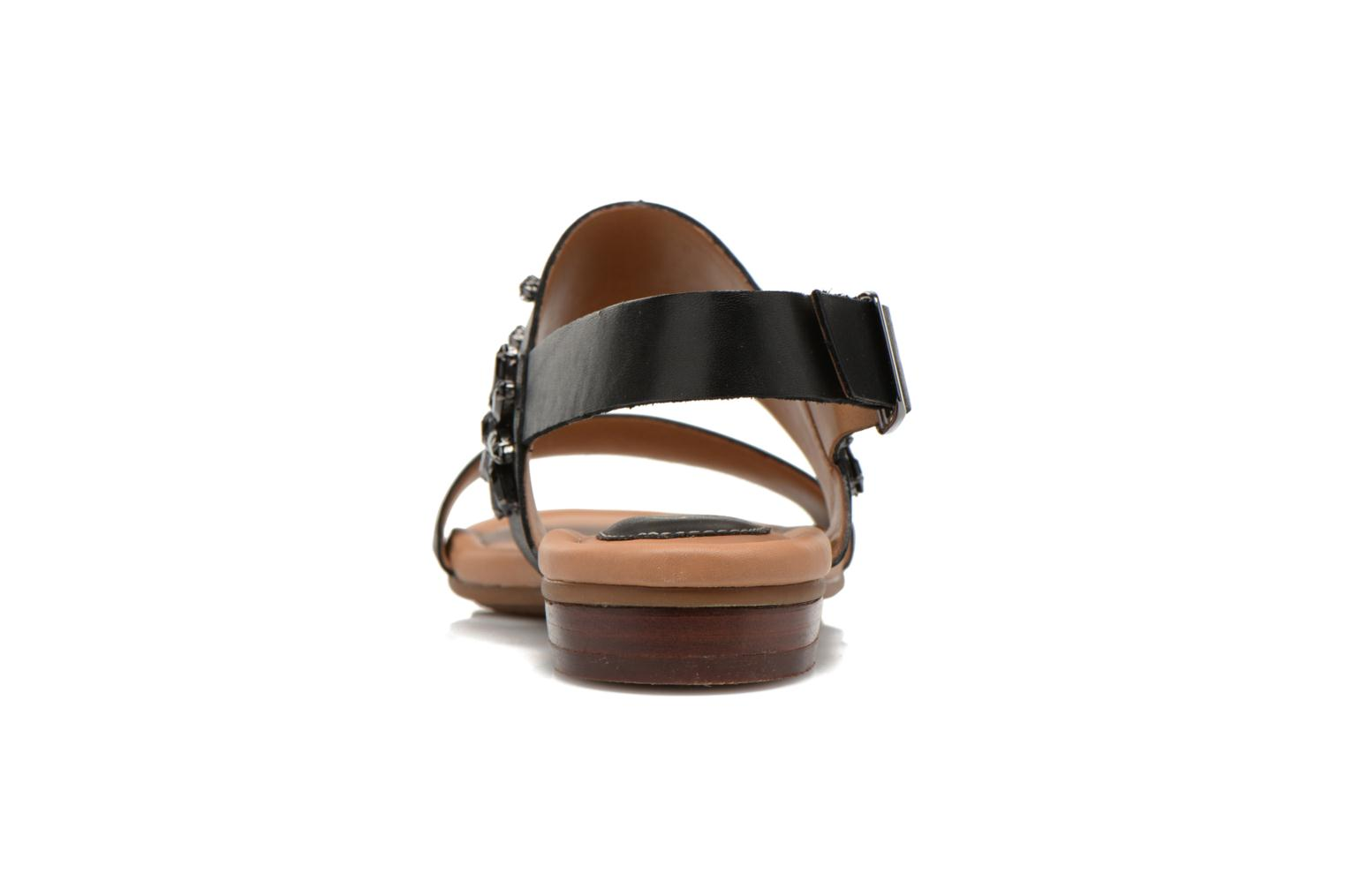 Sandals Clarks Viveca Melrose Black view from the right
